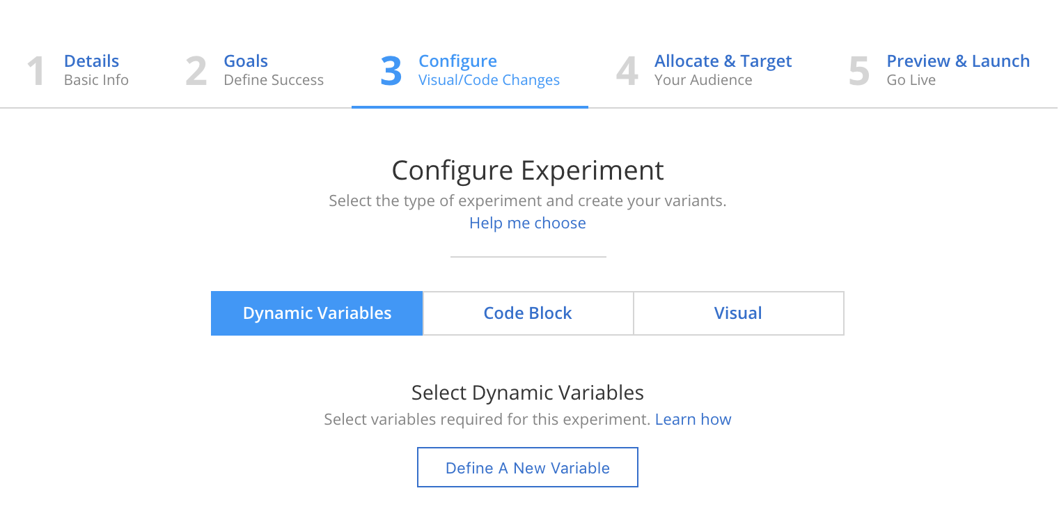 Dynamic Variable A/B Experiments — Apptimize documentation