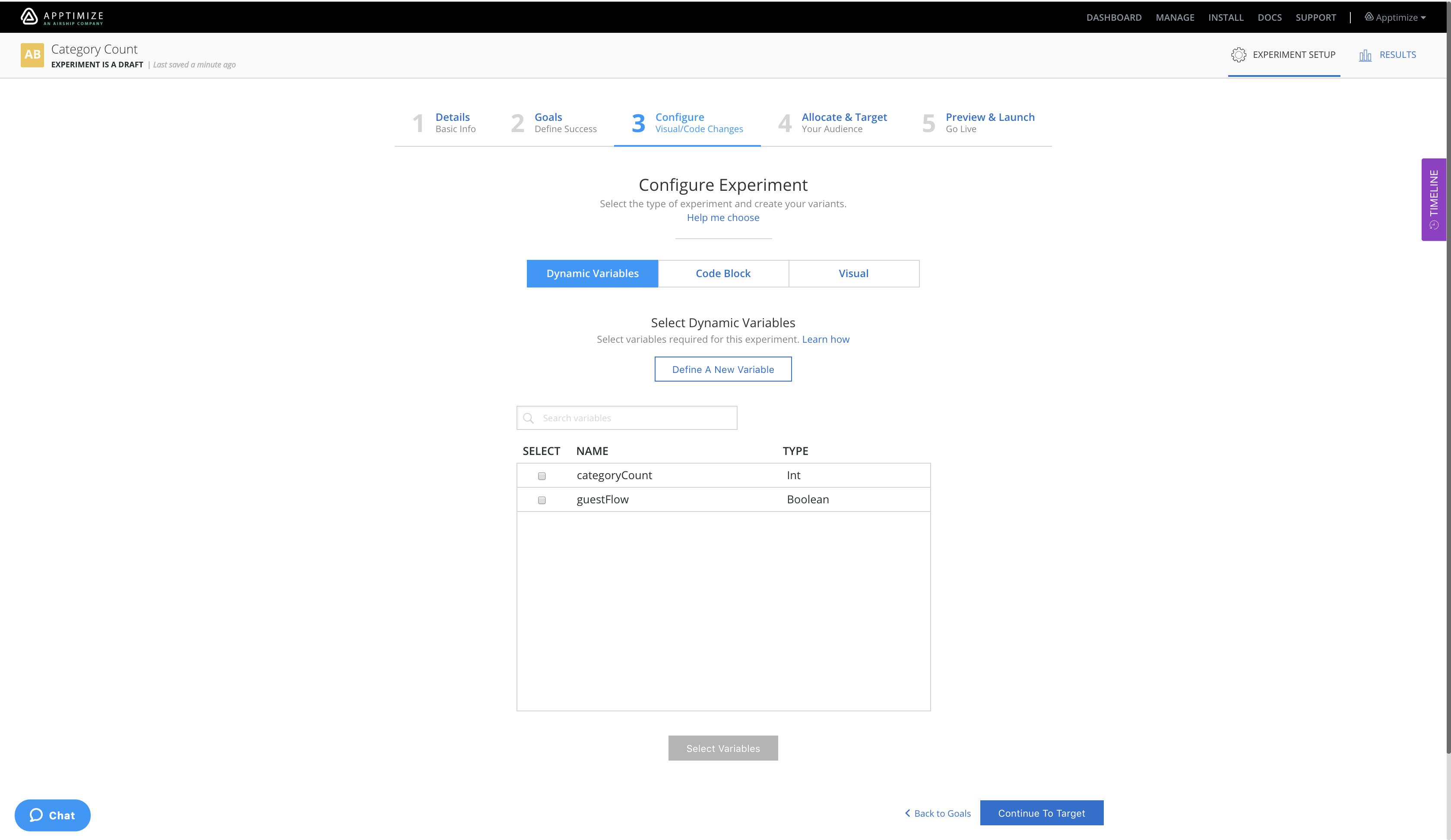 Dynamic Variable A/B Experiments — Apptimize documentation