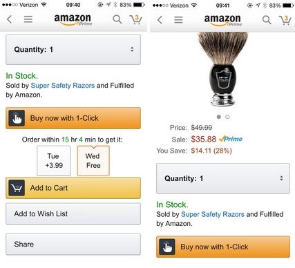 Amazon One Click