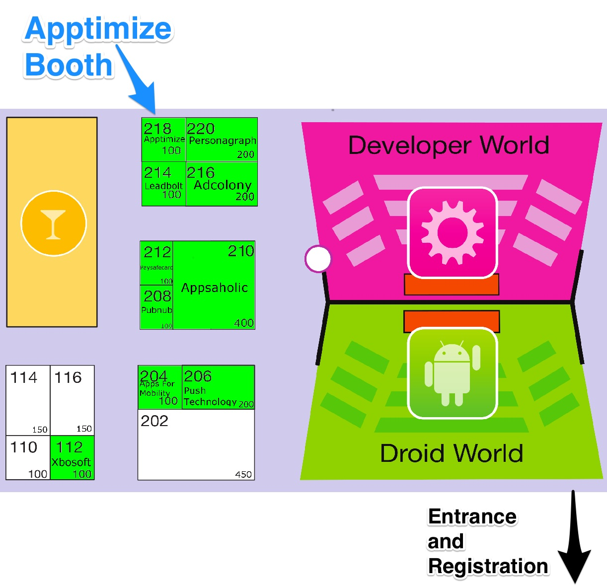 Apptimize App World Booth