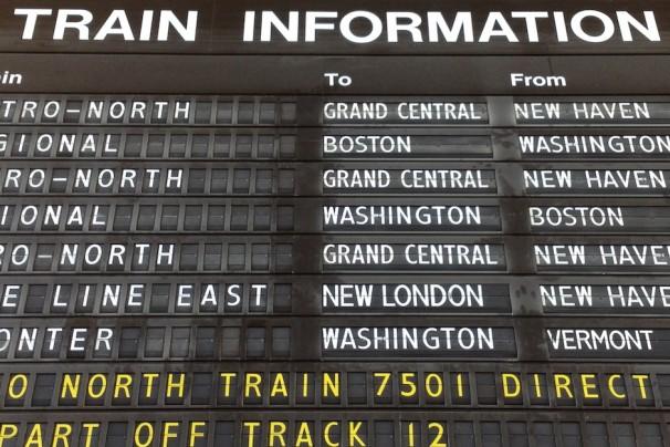 Train Schedule Board