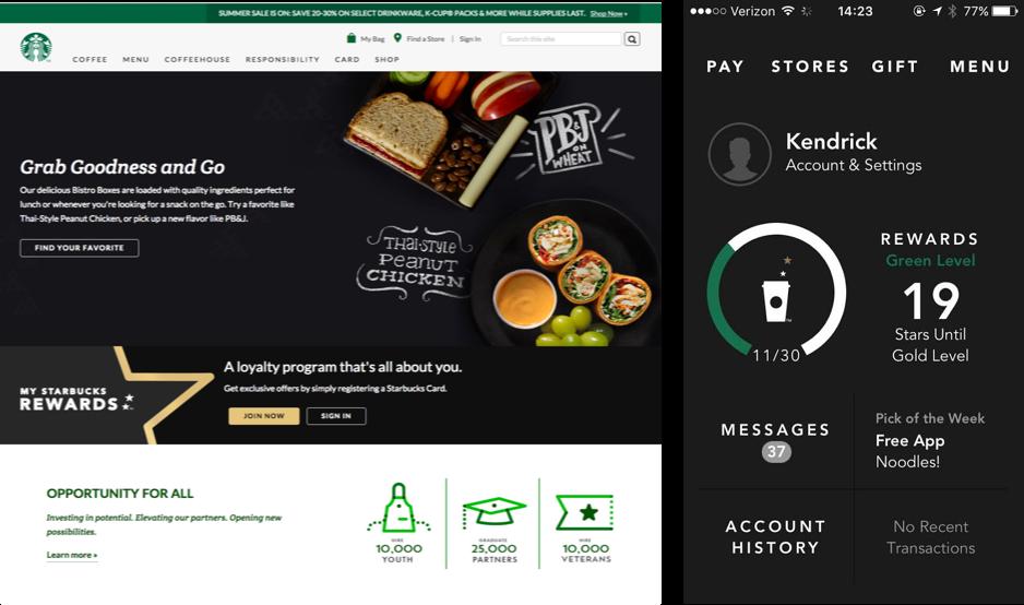 Starbucks Web Mobile