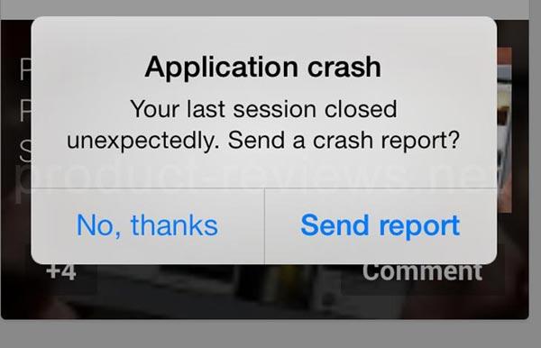 Application crash