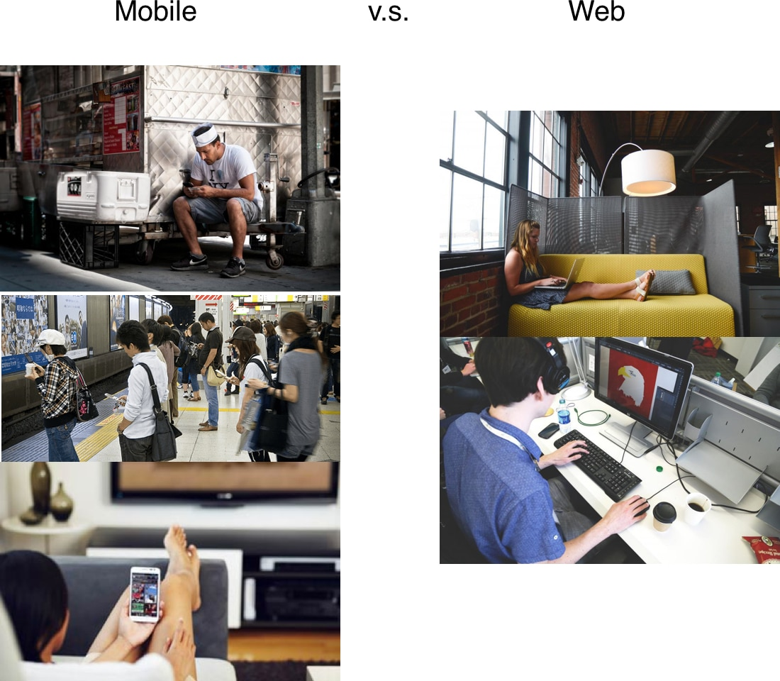 Mobile vs Web