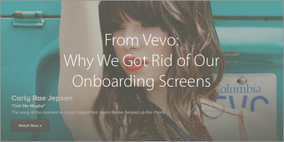 Vevo Onboarding Screens