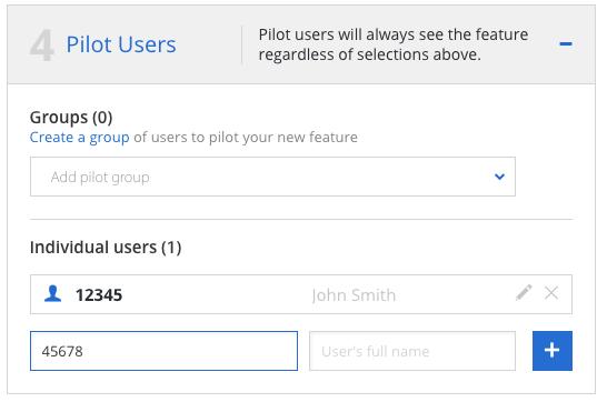 Add pilot users