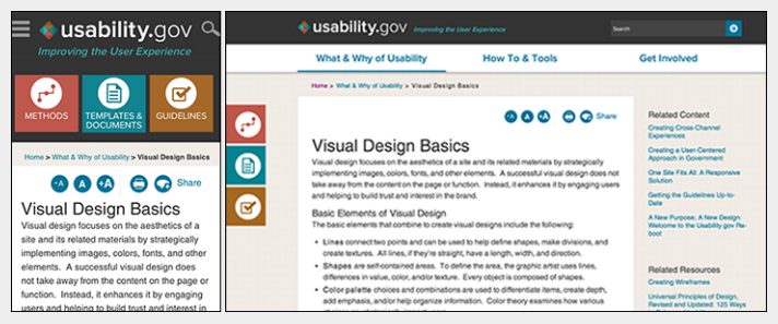 usability icons labeled