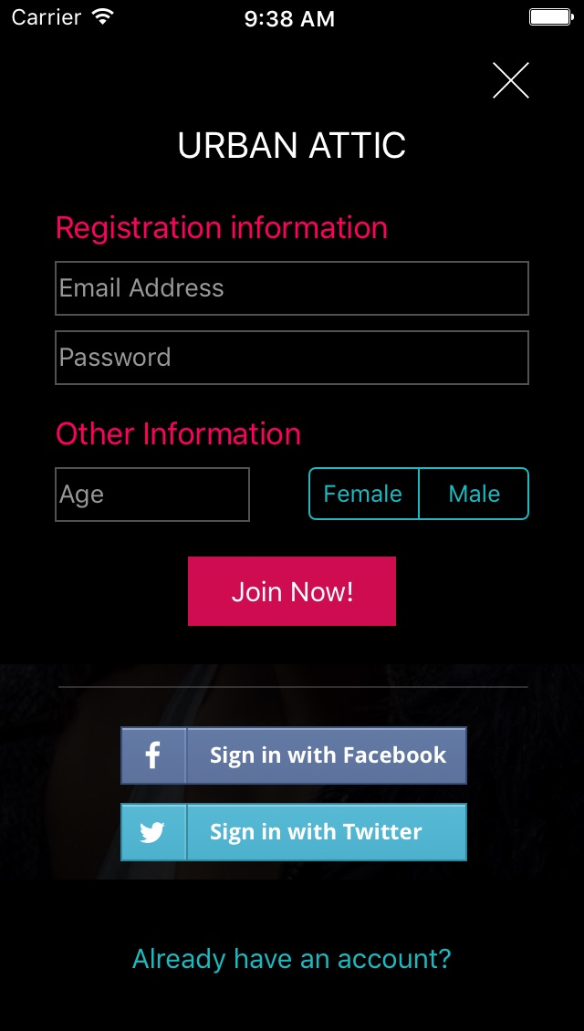 Screenshot showing variant 2: pink Join Now! button