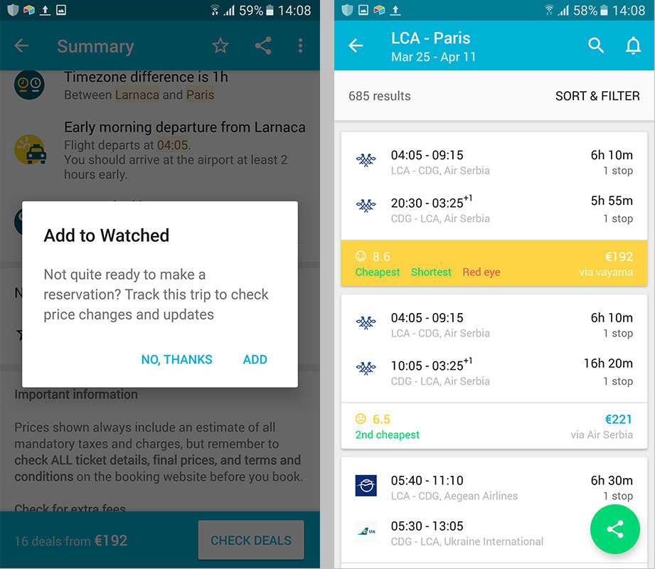 Watching flights is a key app retention feature