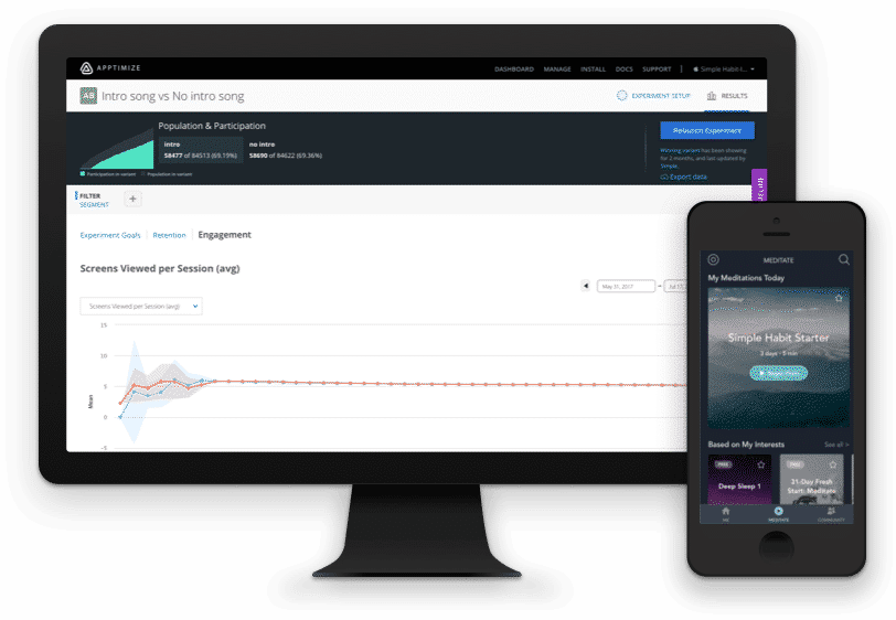 Automatically track the impact an experiment had on mobile retention and engagement.