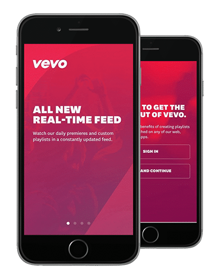 Vevo increased signups by nearly 6% by optimizing their mobile app's user onboarding flow.
