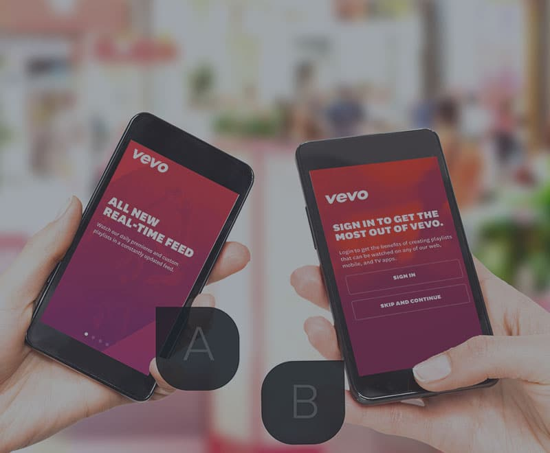 Six different mobile A/B experiments conducted by leading apps likeVevo, Netflix, and Glassdoor.